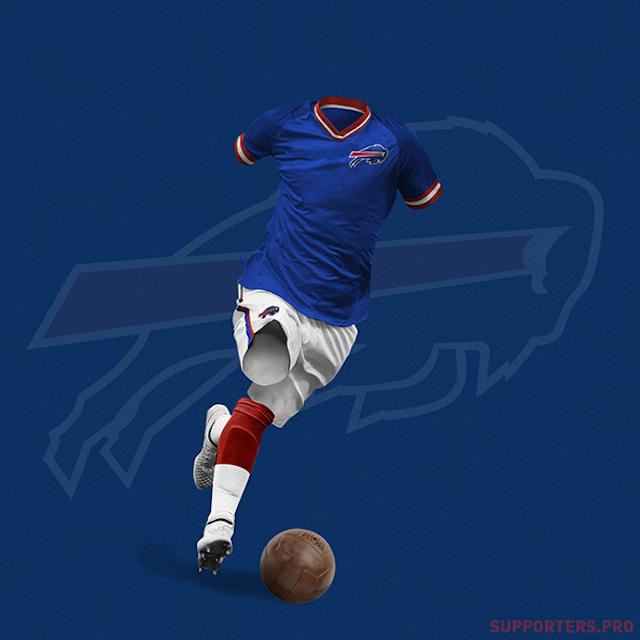 Los uniformes de la NFL como si fueran de futbol