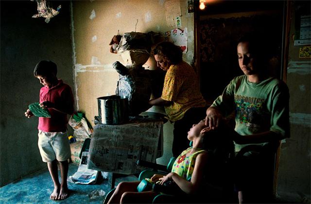Una familia de migrantes mexicanos en Texas (2000)