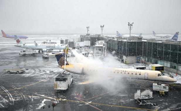 aviones nieve nueva york