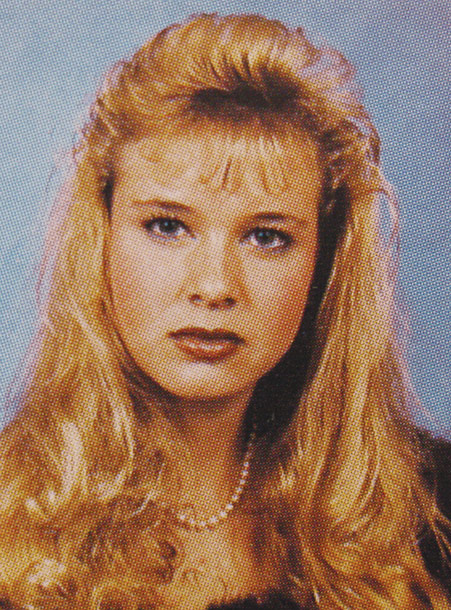 Renee Zellweger in high school yearbook photos
