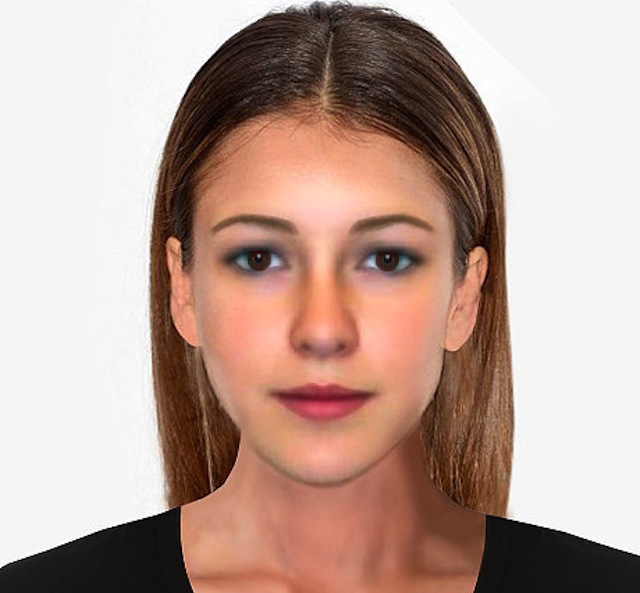 The male perception of archetypal female face of beauty according to a new scientific study to mark the launch of the Samsung Galaxy S6.  Embargoed to 00.01hrs 30th March 2015.