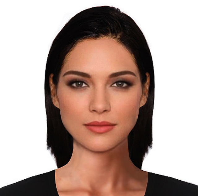The archetypal female face of beauty according to a new scientific study to mark the launch of the Samsung Galaxy S6.  Embargoed to 00.01hrs 30th March 2015.