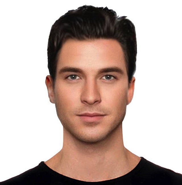 The archetypal male face of beauty according to a new scientific study to mark the launch of the Samsung Galaxy S6.  Embargoed to 00.01hrs 30th March 2015.
