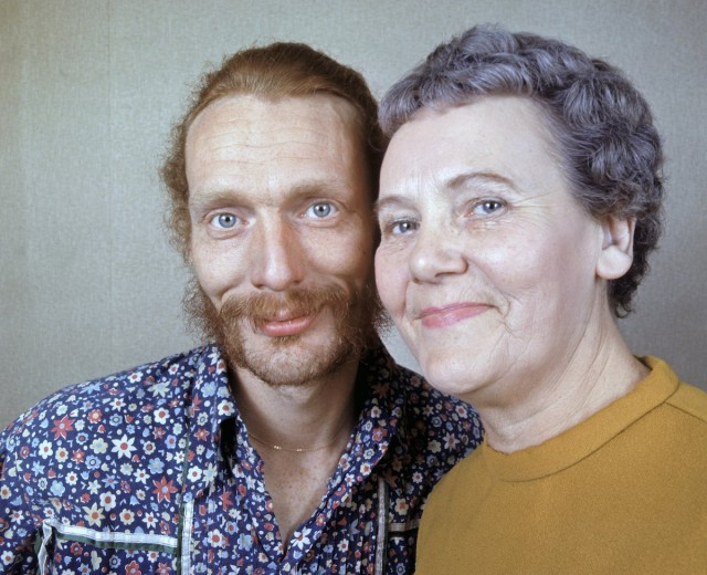 Rock drummer Ginger Baker and his mother.