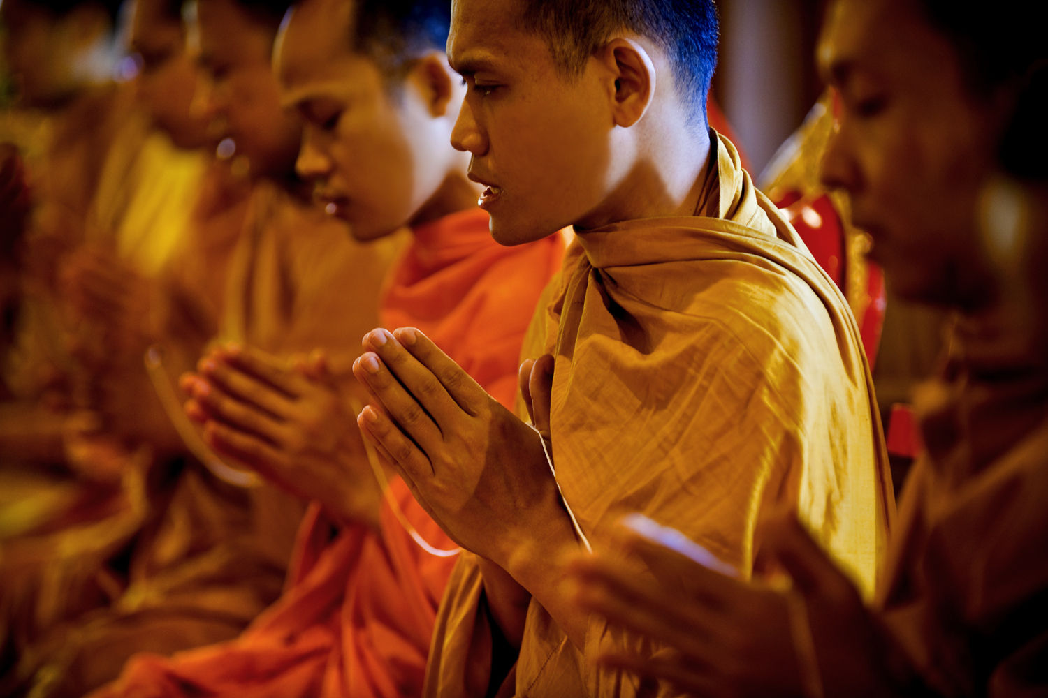 Buddhist Monks Praying