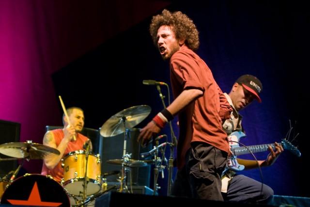 Brad Wilk, Zach de la Rocha and Tom Morello. Rage Against the Ma