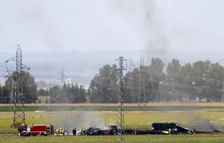avión acidente españa