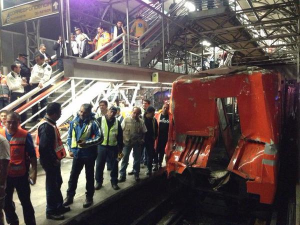 PGJDF dice que investigará choque de trenes en el metro Oceanía