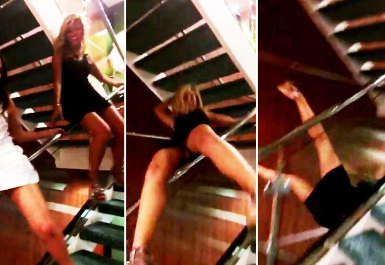 caida escalera