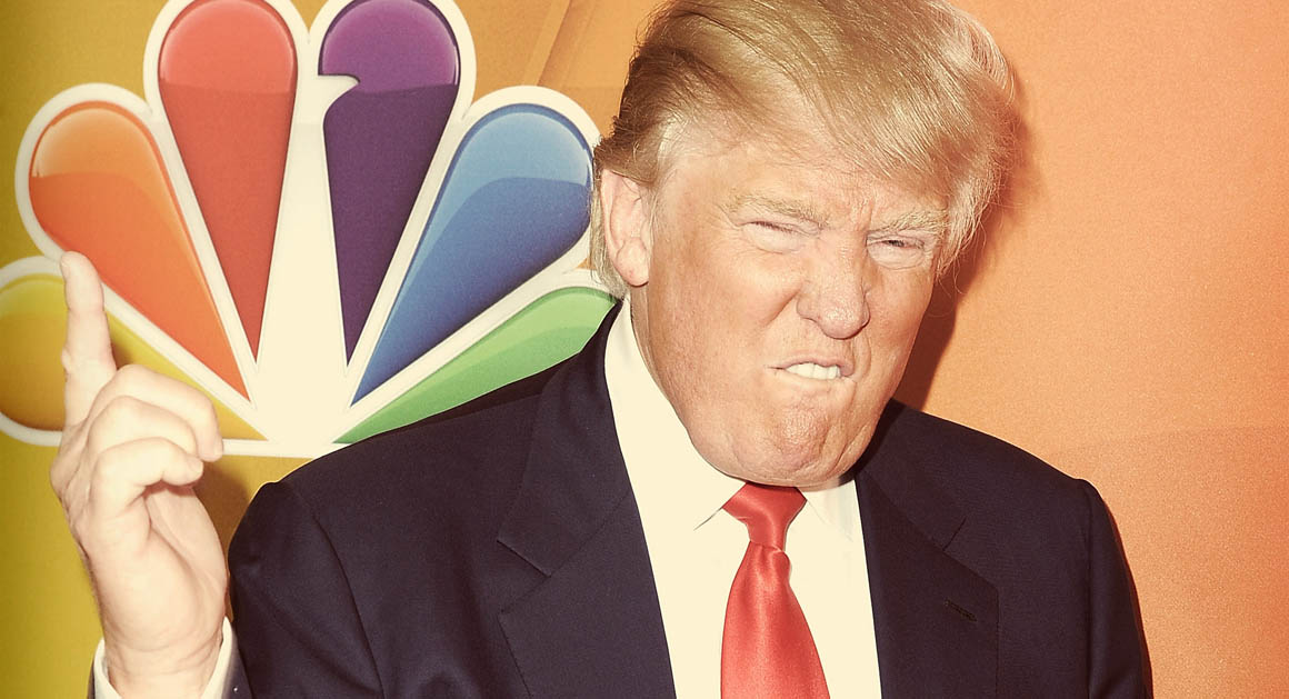PASADENA, CA - JANUARY 16:  (EDITOR'S NOTE: This image was created using digital filters.) Donald Trump arrives at NBCUniversal's 2015 Winter TCA Tour - Day 2 at The Langham Huntington Hotel and Spa on January 16, 2015 in Pasadena, California.  (Photo by Angela Weiss/Getty Images)