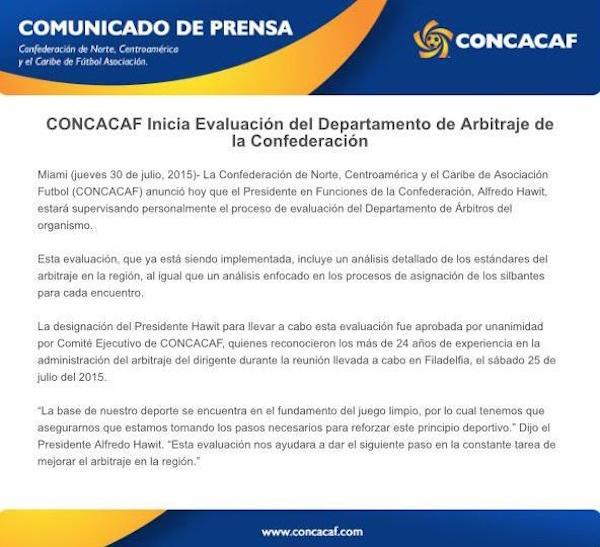 concacaf arbitraje