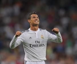 <> at Estadio Santiago Bernabeu on August 25, 2014 in Madrid, Spain.