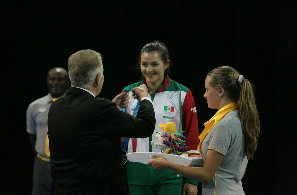 50722322.  Toronto, Can.- La taekwondoín María del Rosario Espinoza consiguió la medalla de plata, en la categoría de más de 67 kilogramos en los Juegos Panamericanos Toronto 2015. NOTIMEX/FOTO/JORGE ARCIGA/JAA/SPO/TORONTO15