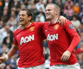 Javier-Chicharito-Hernandez-And-Wayne-Rooney-541648
