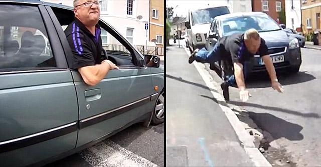 Esto es lo que pasa cuando te peleas con un ciclista en la calle