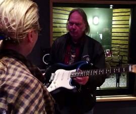 Merryl Streep y Neil Young