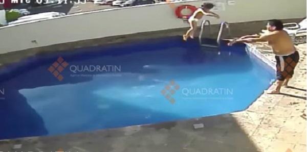 Video prueba cómo sujeto ahogó a niña en alberca; lo acusan de homicidio