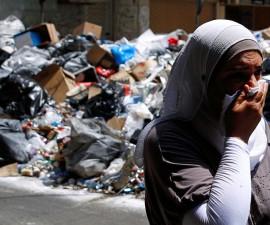 basura libano