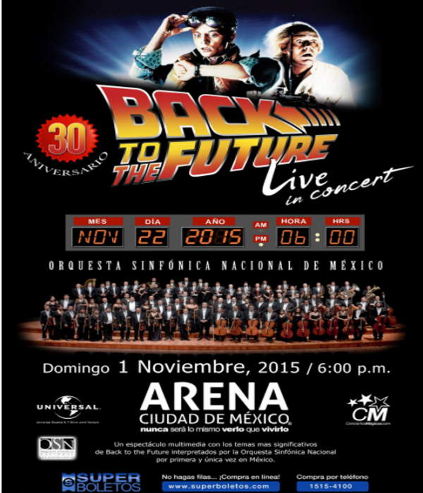 back to the future sinfonica poster
