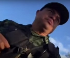 militar vs reportero