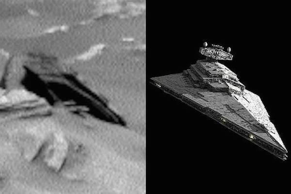 Captan nave de Star Wars en Marte… un momento… ¿¡qué!?