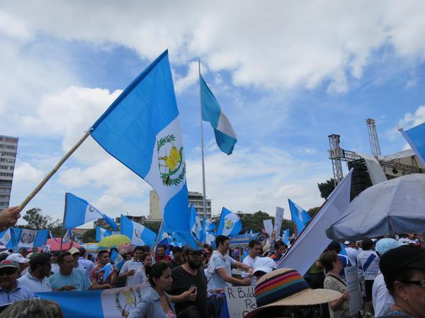 Guatemala unido en contra la corrupción de su presidente