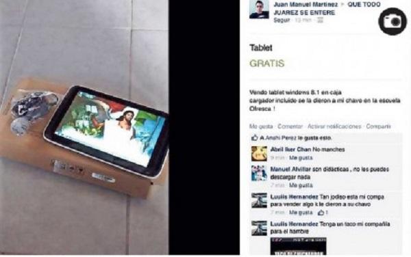 Tablets que da el gobierno a estudiantes son vendidas en internet… por los propios padres