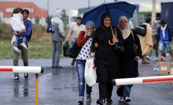 cm refugiados caminan