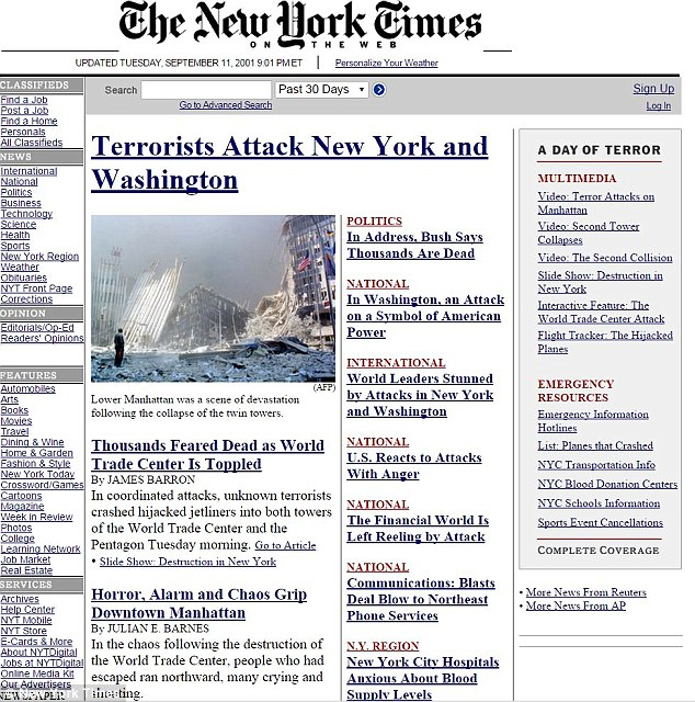 new york time 9 /11