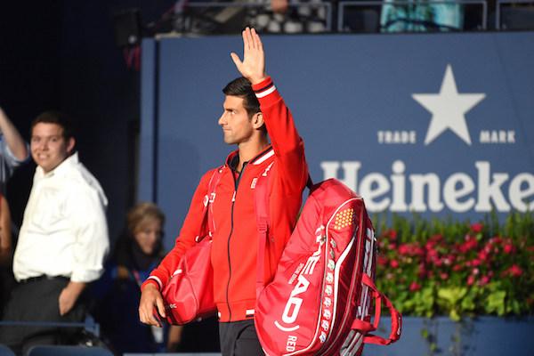 September 2, 2015 - Novak Djokovic in action at the Men's singles round 2 match during the 2015 US Open at the USTA Billie Jean King National Tennis Center in Flushing, NY. (USTA/Garrett Ellwood)