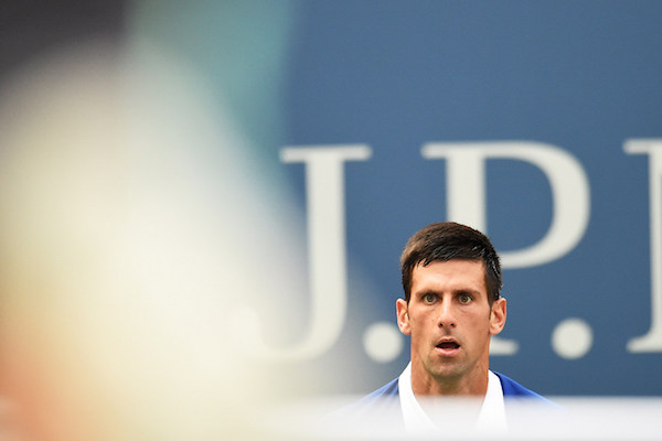 September 4, 2015 - Novak Djokovic in action in a men's singles third-round match against Andreas Seppi during the 2015 US Open at the USTA Billie Jean King National Tennis Center in Flushing, NY. (USTA/Garrett Ellwood)