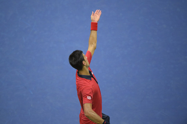 September 2, 2015 - Novak Djokovicin action at the Men's singles round 2 match during the 2015 US Open at the USTA Billie Jean King National Tennis Center in Flushing, NY. (USTA/Pete Staples)