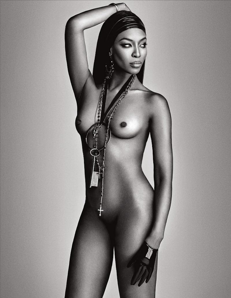 NSFW, El desnudo completo de Naomi Campbell para la revista Lui