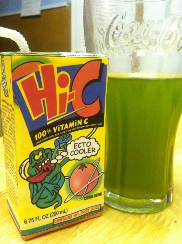Hi C Ecto Cooler Slimer Juice Carton Custom Cup