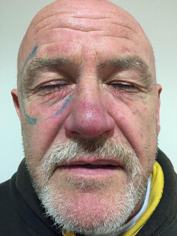 -Ray-Ban-sunglasses-tattoo-on-face