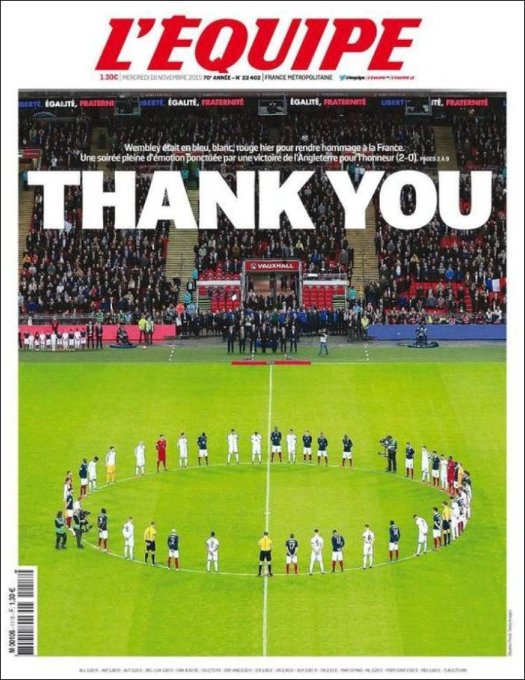 lequipe thank you wembley