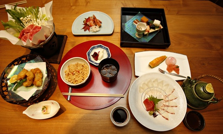 A selection of Japanese dishes