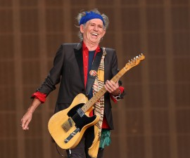 LONDON, ENGLAND - JULY 06:  Keith Richards of The Rolling Stones performs live on stage during day two of British Summer Time Hyde Park presented by Barclaycard at Hyde Park on July 6, 2013 in London, England.  (Photo by Simone Joyner/Getty Images)