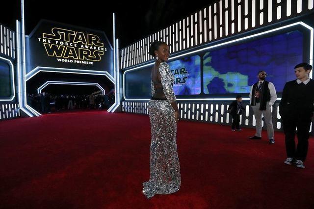 Actress Lupita Nyong'o arrives at the premiere of