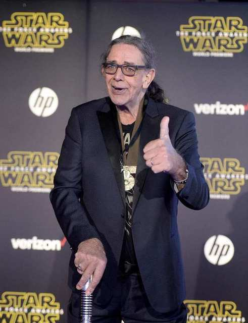 """Actor Peter Mayhew arrives at the premiere of """"Star Wars: The Force Awakens"""" in Hollywood, California December 14, 2015. REUTERS/Kevork Djansezian"""