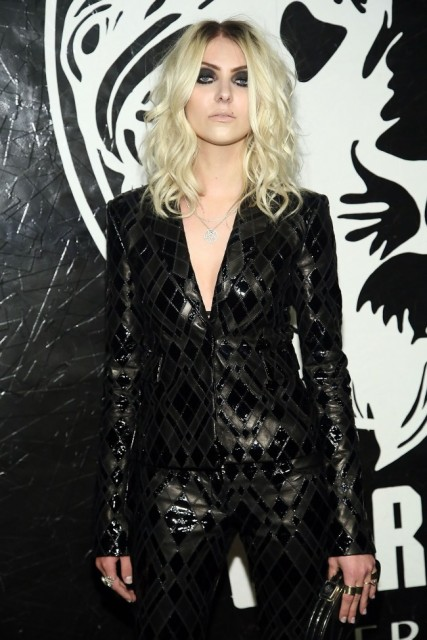 NEW YORK, NY - MAY 15: Taylor Momsen attends the Versus Versace launch hosted by Donatella Versace at the Lexington Avenue Armory on May 15, 2013 in New York City. (Photo by Astrid Stawiarz/Getty Images)