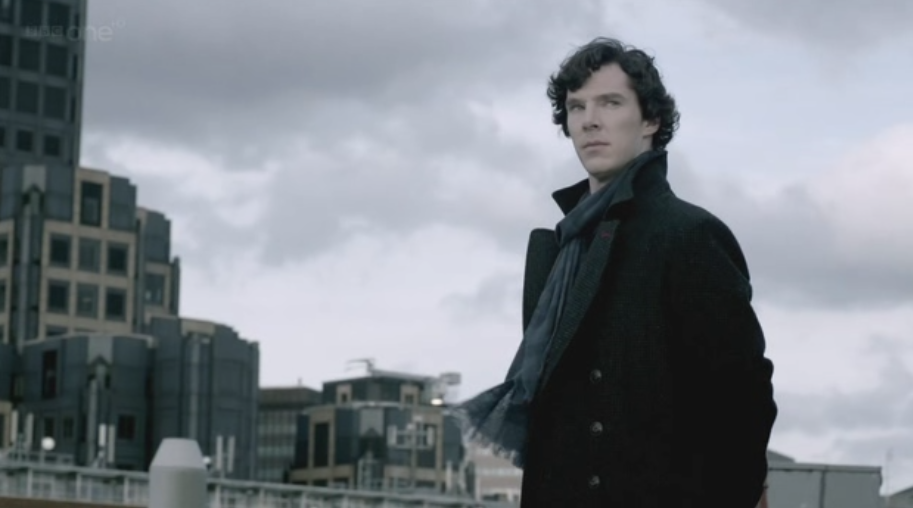 Benedict Cumberbatch as Sherlock Holmes on Sherlock Series Two Finale The Reichenbach Fall 6