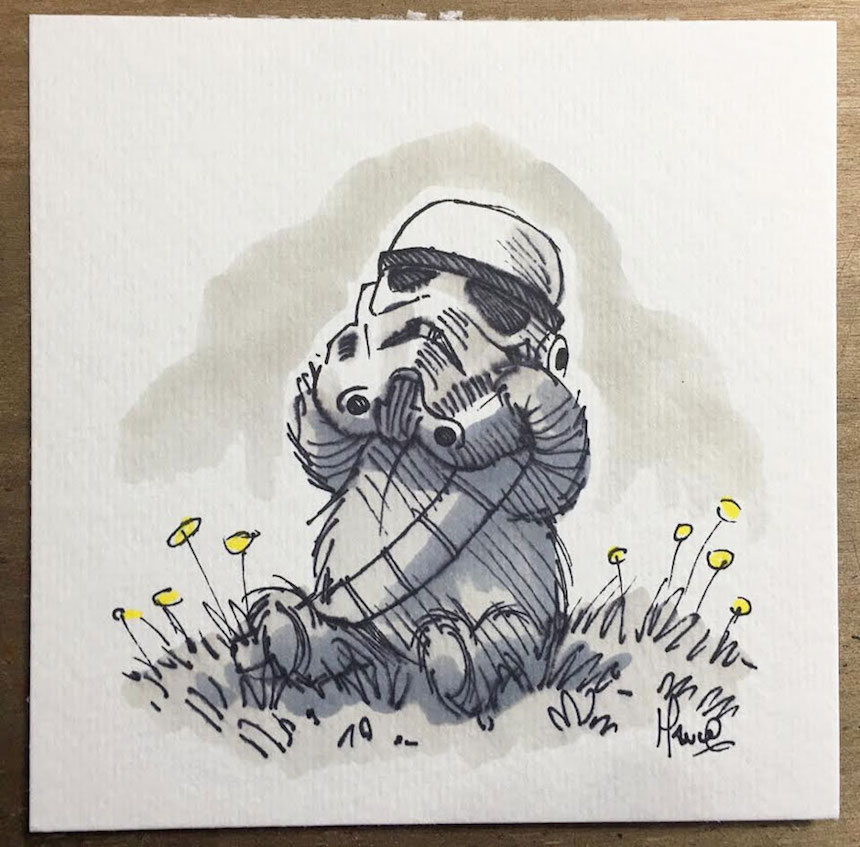 star-wars-characters-winnie-the-pooh-wookie-the-chew-james-hance-26