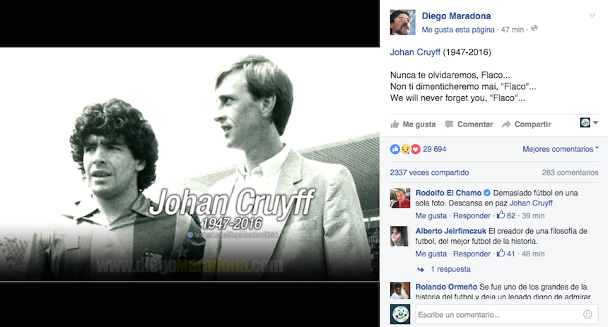 diego maradona facebook