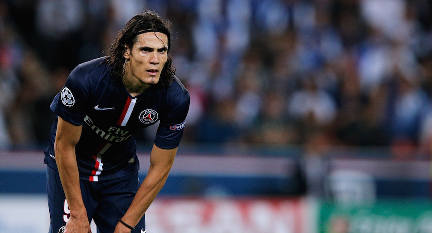 Cavani con Paris Saint Germain