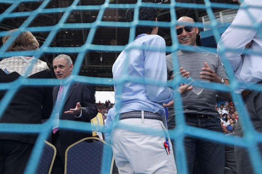 President Obama Attends Tampa Bay Devil Rays v Cuban National Team Baseball Game In Havana