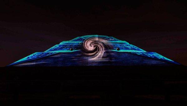 Las piramides de teotihuacan se iluminan para una Espectaculo de luces teotihuacan 2018
