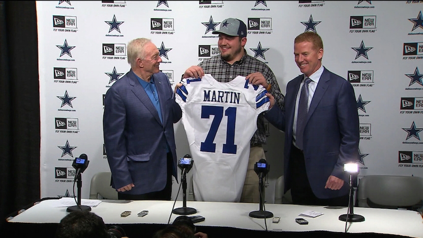 zack martin draft cowboys