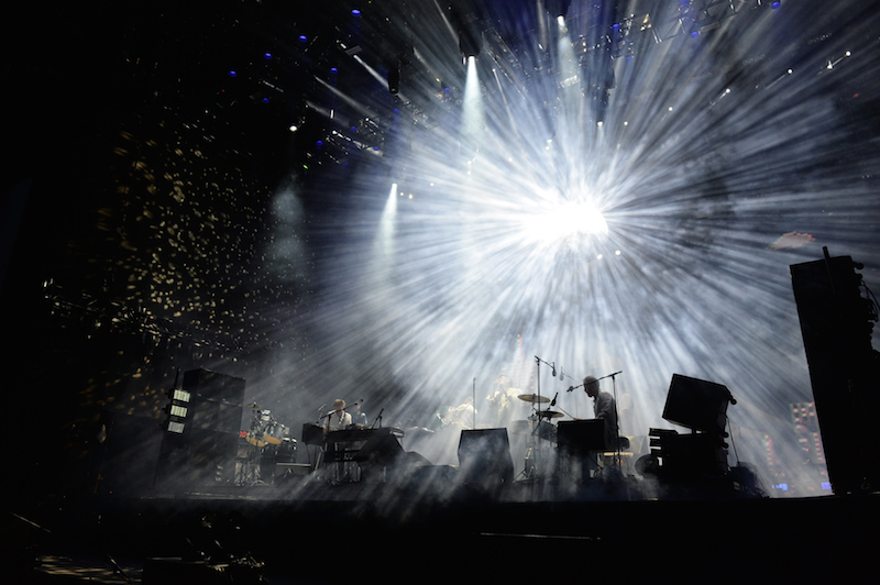 INDIO, CA - APRIL 15: LCD Soundsystem performs onstage during day 1 of the 2016 Coachella Valley Music & Arts Festival Weekend 1 at the Empire Polo Club on April 15, 2016 in Indio, California. (Photo by Kevin Winter/Getty Images for Coachella)