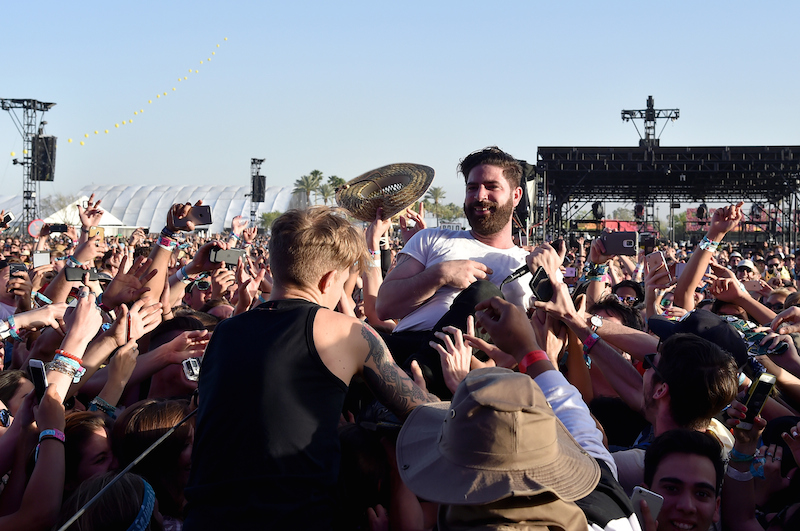 INDIO, CA - APRIL 15: Musical artist Yannis Philippakis of Foals performs onstage during day 1 of the 2016 Coachella Valley Music & Arts Festival Weekend 1 at the Empire Polo Club on April 15, 2016 in Indio, California. (Photo by Kevin Winter/Getty Images for Coachella)